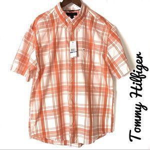 Tommy Hilfiger Button Down Dress Shirt Size XL